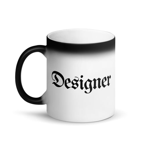 Designer Color-Changing Coffee Mug