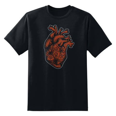 D&D Dice Heart T-Shirt