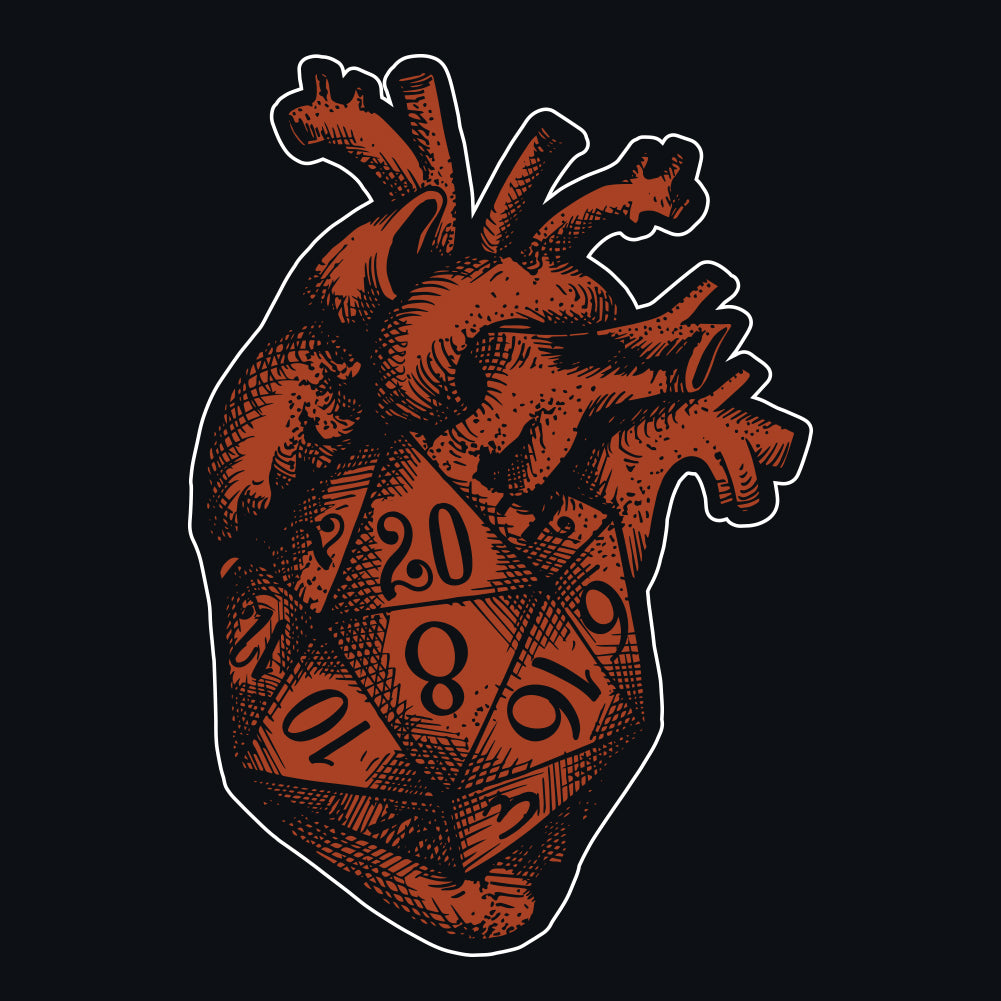 D20 Gamer Dice Heart Scoopneck T-Shirt