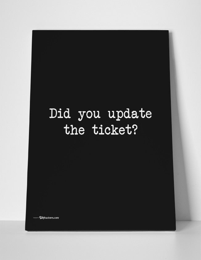 Did You Update The Ticket Canvas