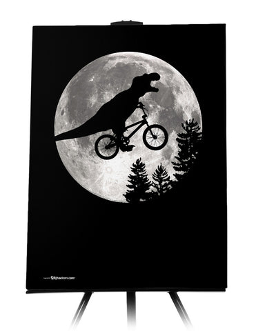 Dinosaur ET Moon Bike Canvas