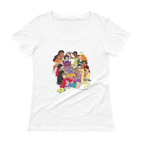 Disney Princesses and DND Women's Scoopneck T-shirt