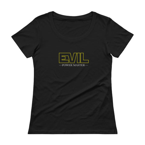 Evil Power Master Women's Scoopneck T-shirt