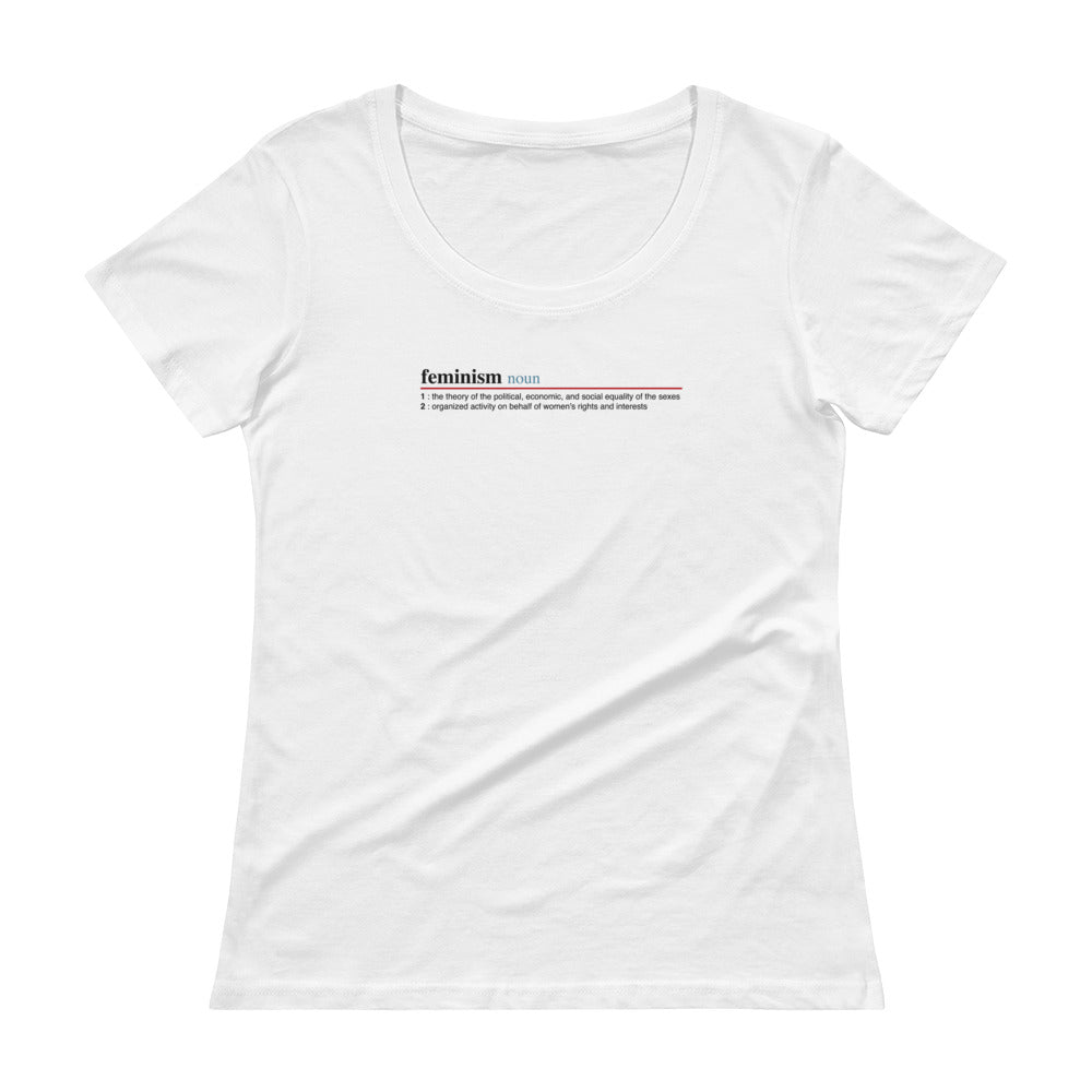 Feminism Definition Women's Scoopneck T-shirt