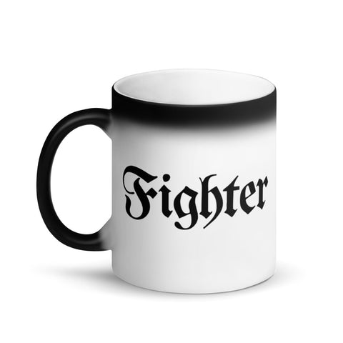 Fighter RPG Character Class Color-Changing Coffee Mug