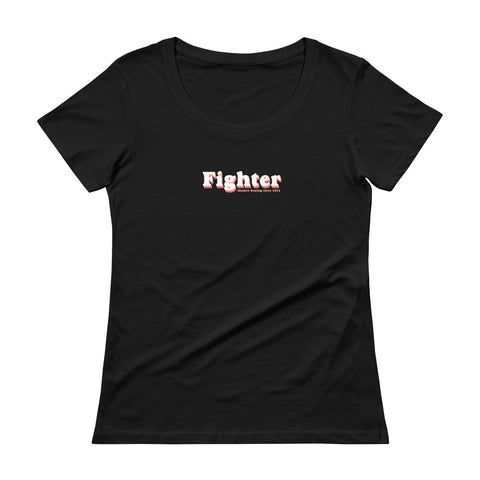 Fighter Women's Scoopneck T-shirt