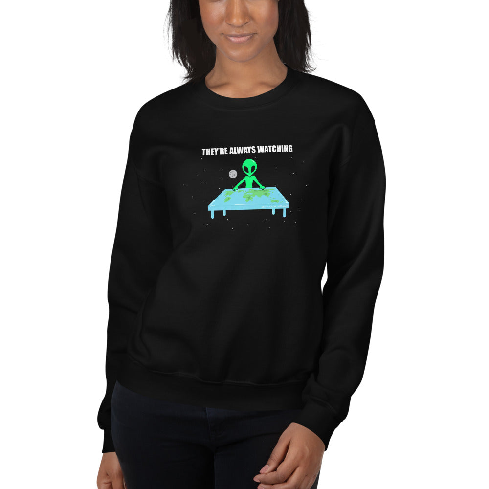 Flat Earth Alien Unisex Sweatshirts