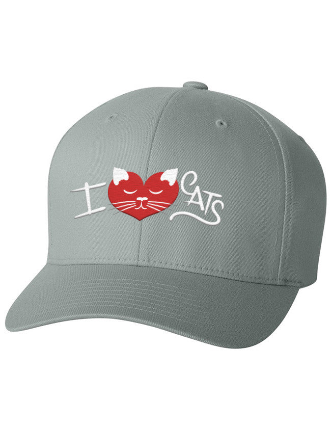 Flexfit - I ♥ Cats Grey - 3