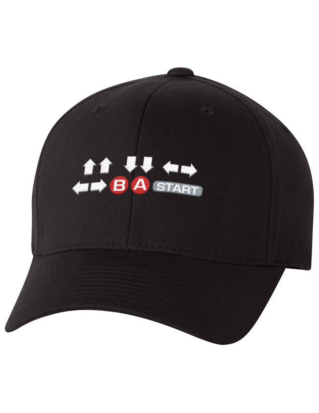 Flexfit - Contra Cheat Code Hat - ⇧⇧⇩⇩⇦⇨⇦⇨ Ⓑ Ⓐ  START  - 1
