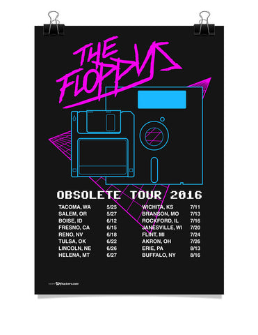 Poster - The Floppys Obsolete Tour  - 1