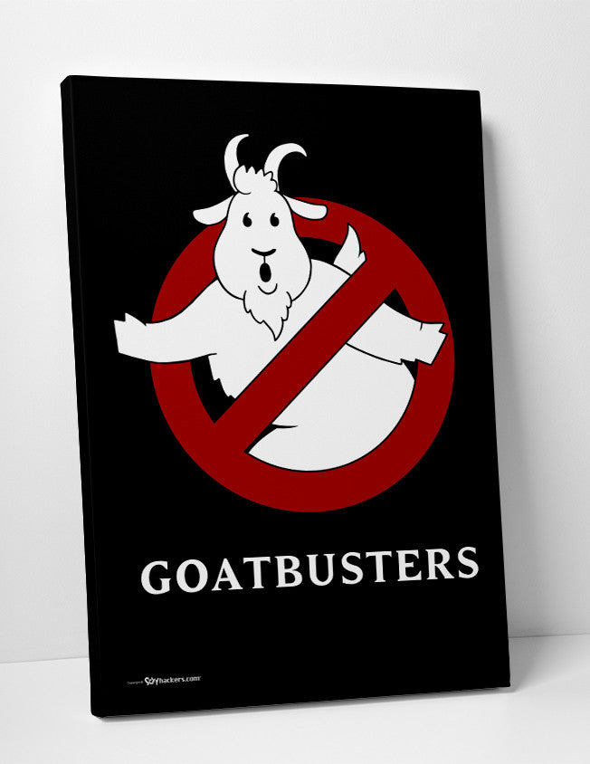 Goatbusters Ghostbusters Logo Parody Canvas
