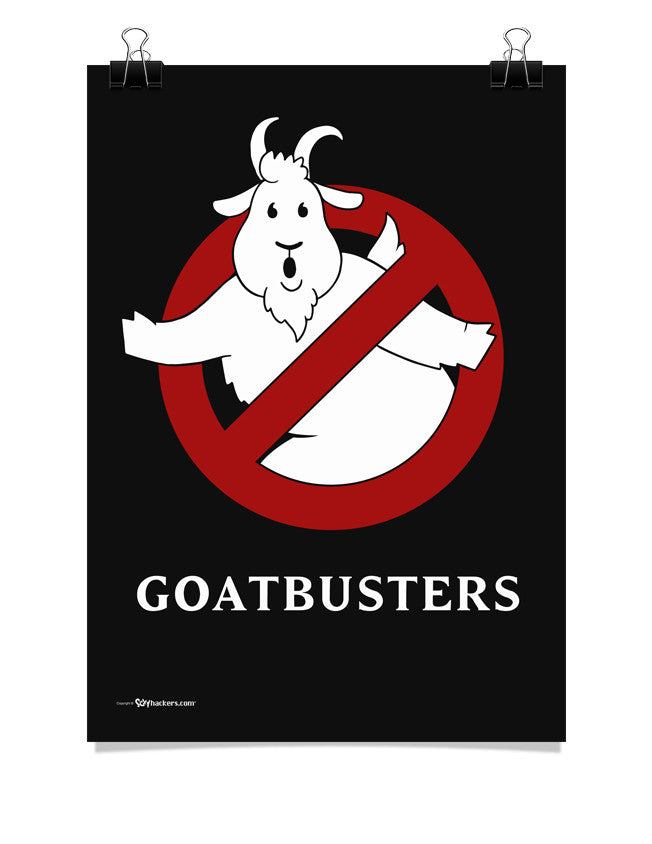 Goatbusters Ghostbusters Logo Parody Poster