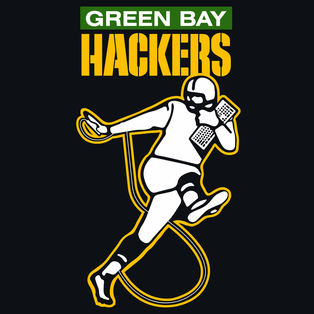 Green Bay Hackers Women's Sheer Racer-back Tank-top