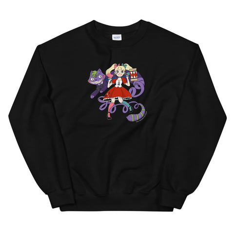 Harley Quinn and Joker in Wonderland Unisex Sweatshirts