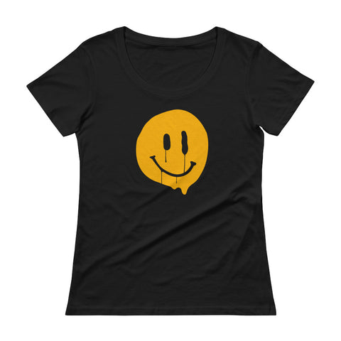 Happy-ish  Women's Scoopneck T-shirt