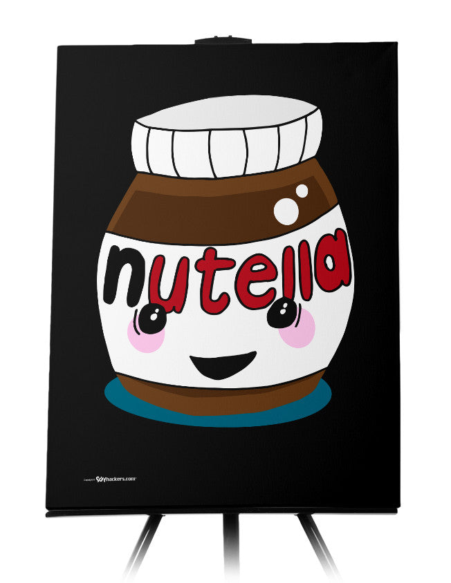 Happy Nutella Jar Canvas