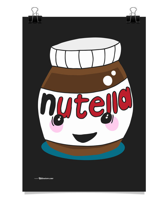 Happy Nutella Jar Poster