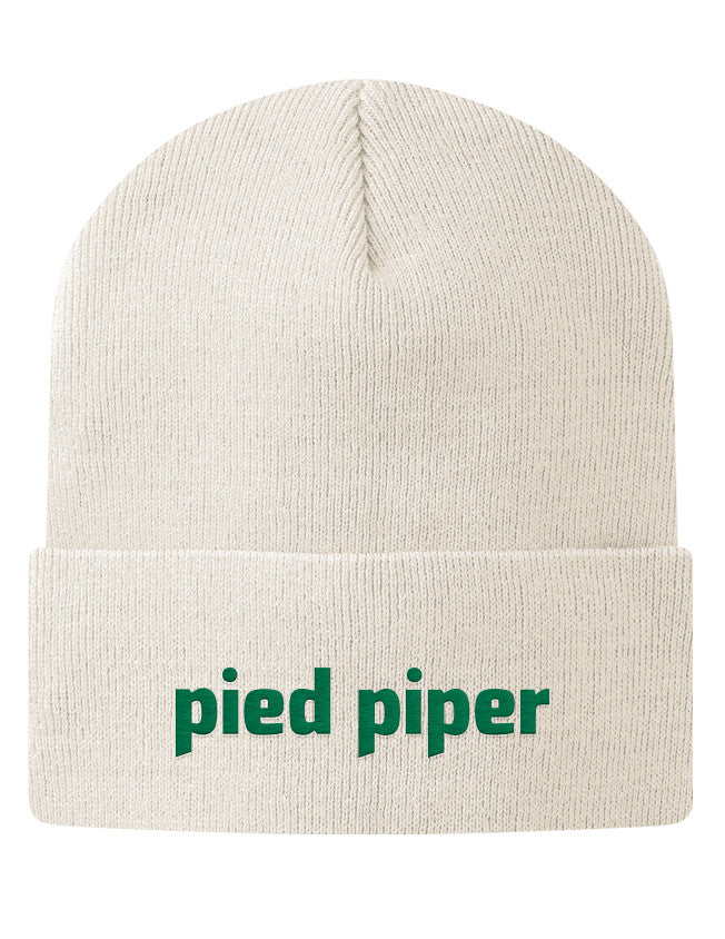 Knit Beanie - Pied Piper Logo Beanie Hat from the TV Series Silicon Valley on HBO White - 2