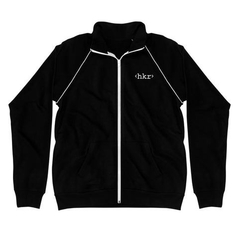 hkr Embroidered Piped Fleece Jacked