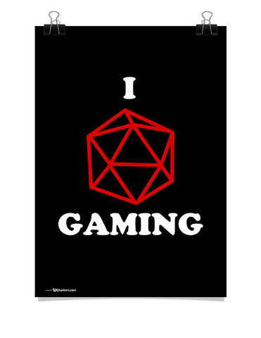 Poster - I (dice) Gaming  - 1