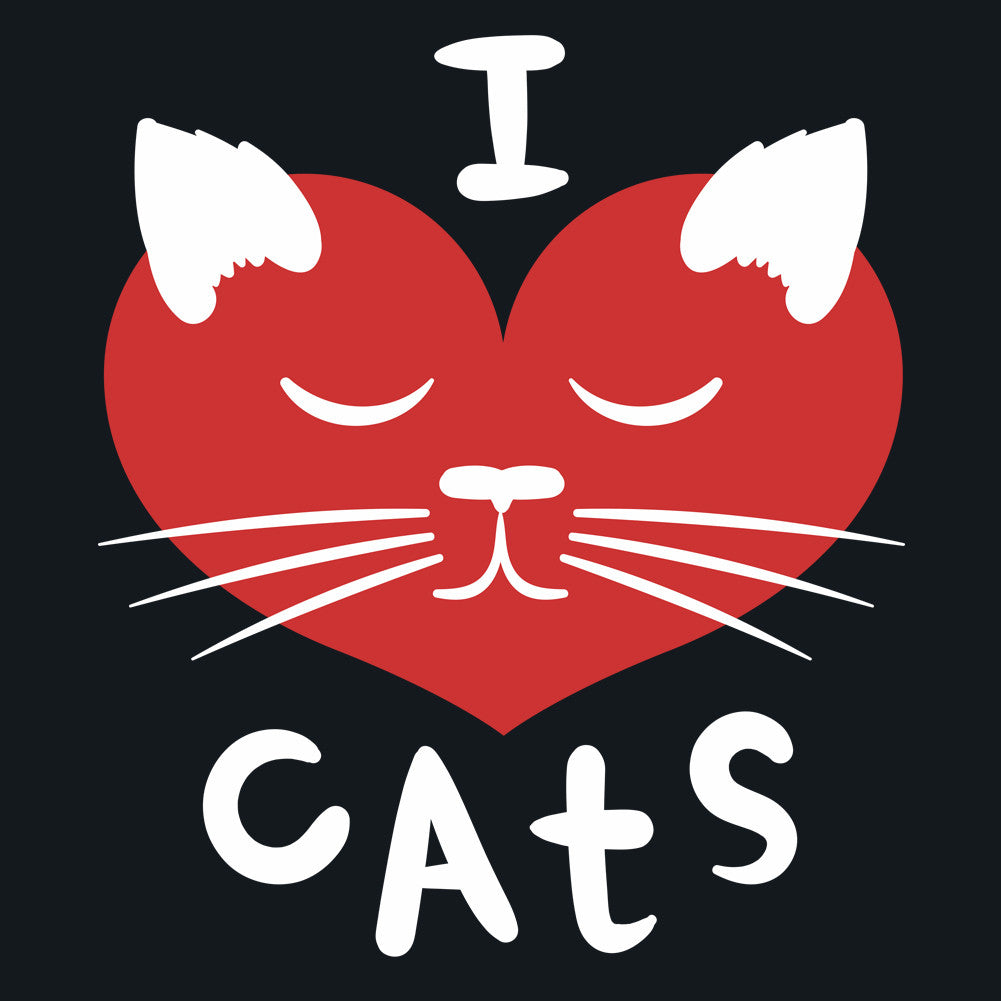 I Love Cats Men's Unisex T-Shirt by Sexy Hackers
