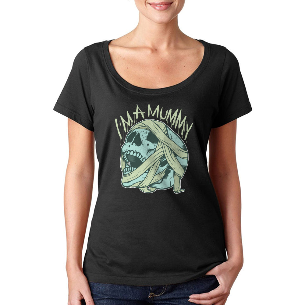 I'm A Mummy Women's Sheer Scoopneck Tee