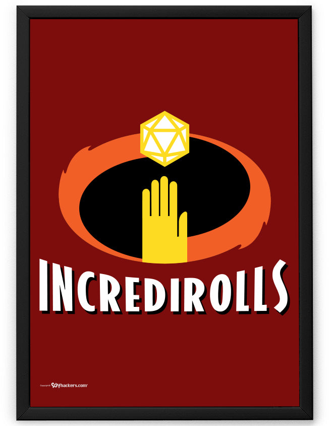 Incredirolls RPG Parody Poster
