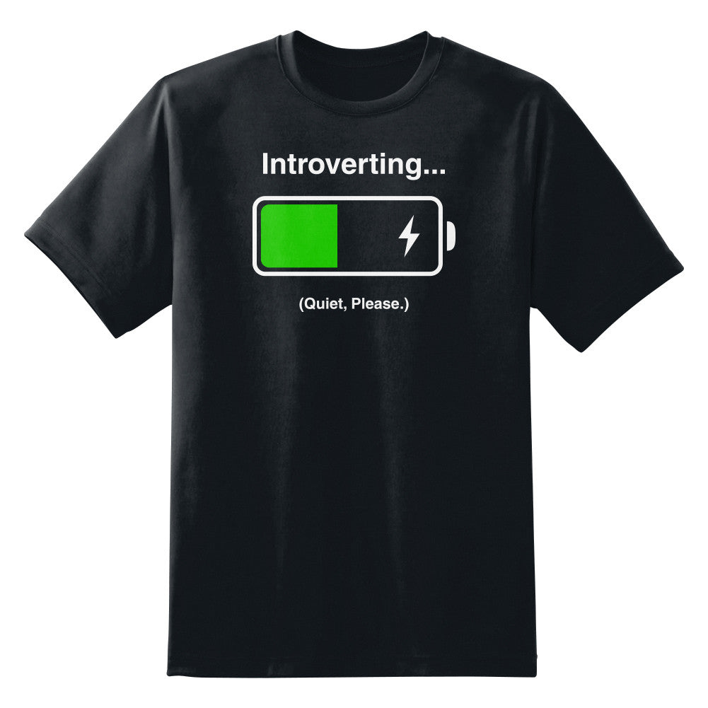 Introverting Quiet Please Funny Unisex T-Shirt
