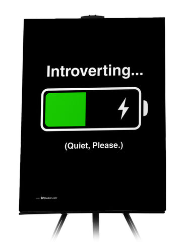 Introverting Quiet Please Funny Canvas