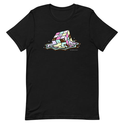 Kawaii Melting Rubix Cube Unisex T-shirt