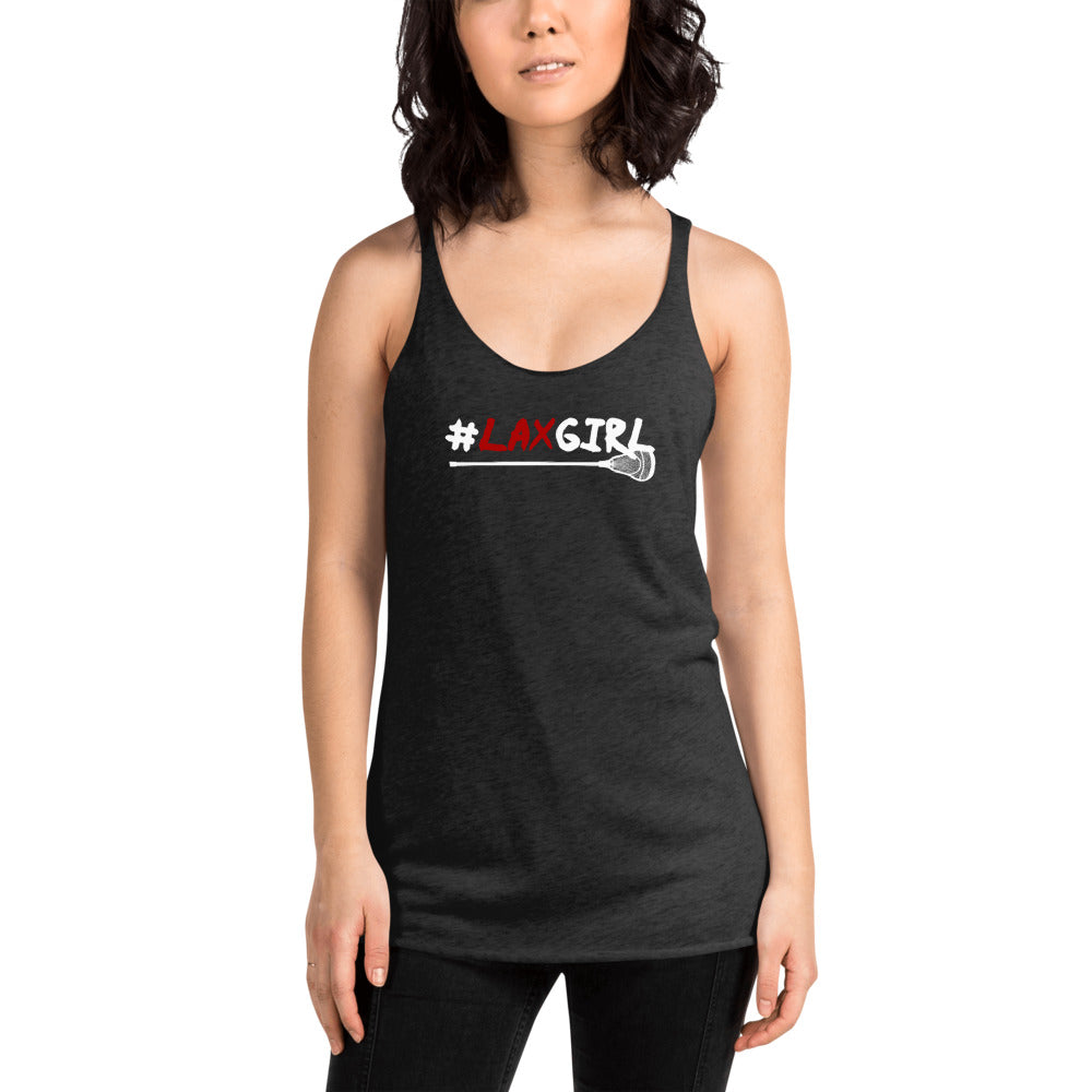 LAX Girl Womens Racer-back Tank-top