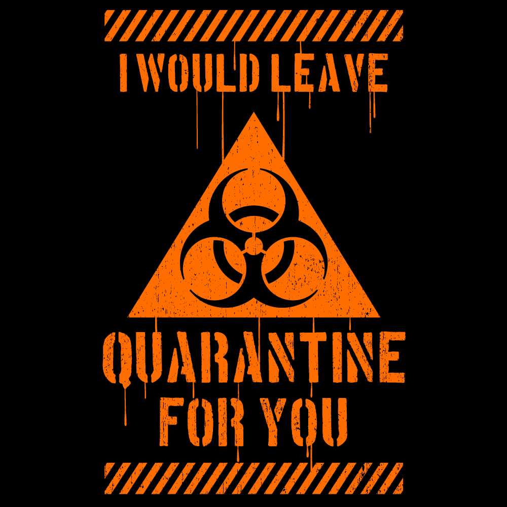 I Would Leave Quarantine For You Women's Scoopneck T-shirt
