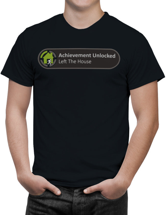 X-Box Achievement Unlocked Left the House Funny Unisex T-Shirt