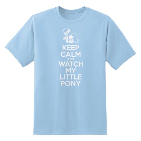 Keep Calm and Watch My Little Pony Men's Unisex T-Shirt by Sexy Hackers