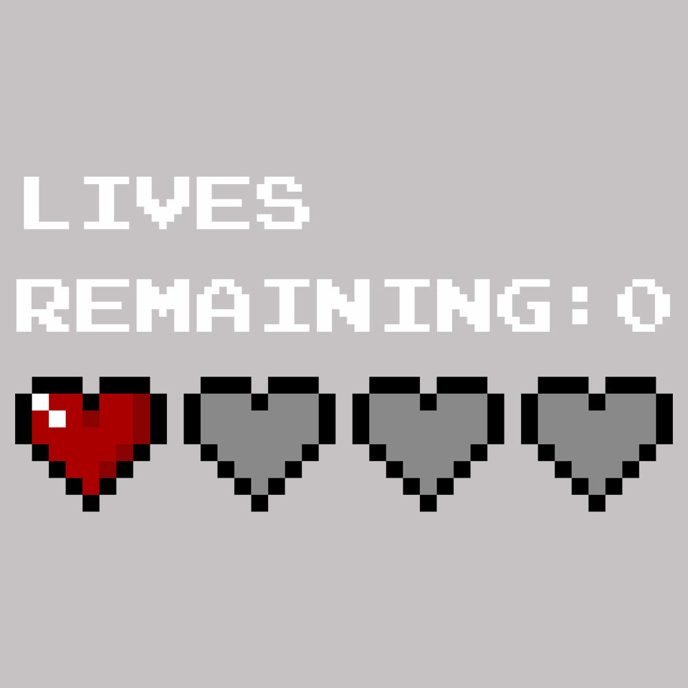 Lives Remaining Zero Unisex T-Shirt by Sexy Hackers
