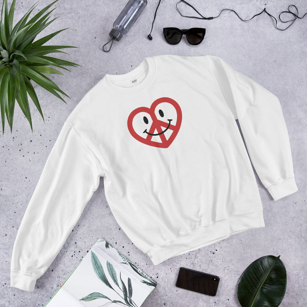 White Love Peace and Happiness Unisex Sweatshirts