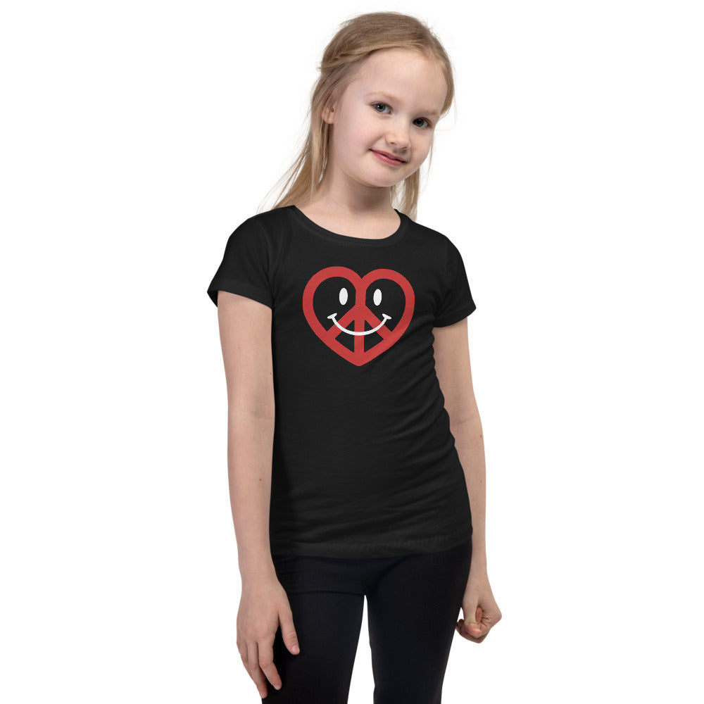 Love, Peace, & Happiness Princess T-shirt