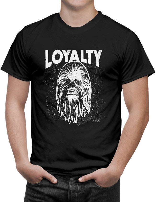 Shirt - Star Wars Force Awakens Loyalty Chewie Adult T-Shirt For Jedi Masters  - 3