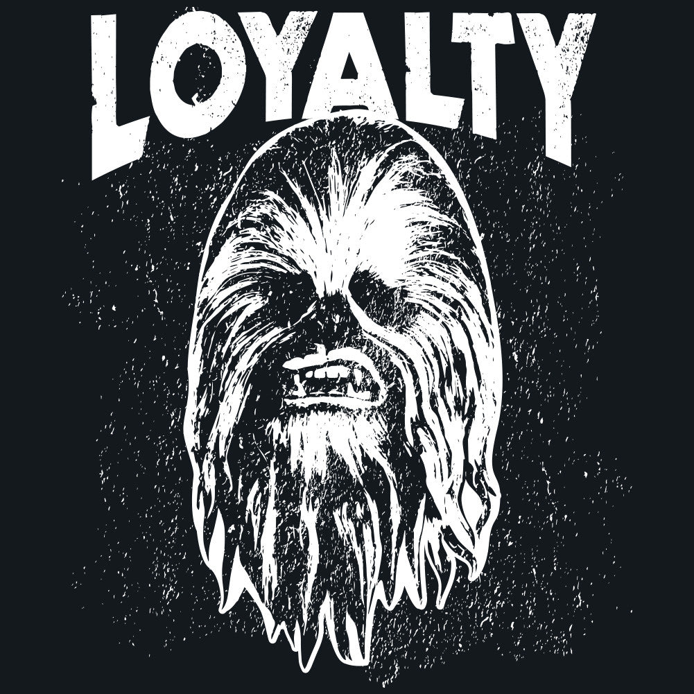 Star Wars Force Awakens Loyalty Chewie Adult T-Shirt For Jedi Masters