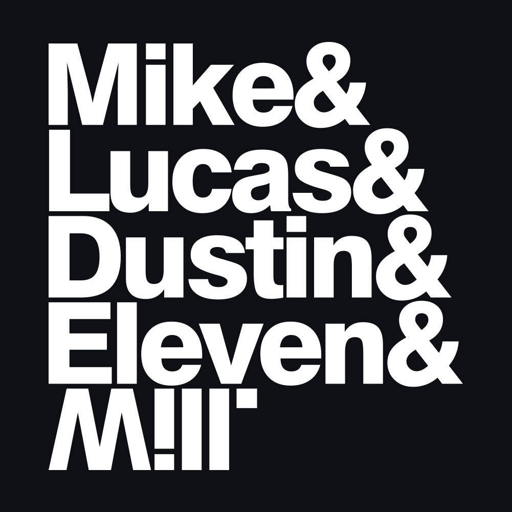 Mike & Lucas & Dustin & Eleven & Will Unisex Hoodie by Sexy Hackers