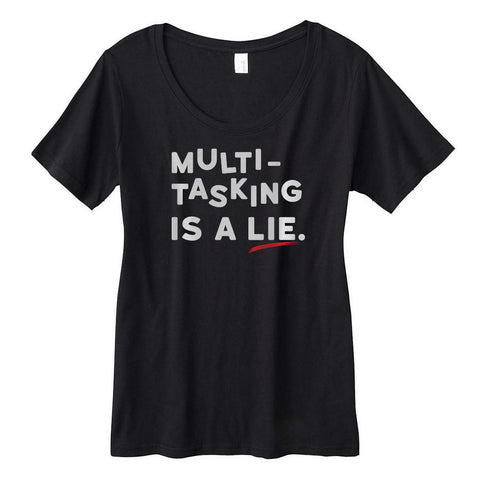 Multitasking is a LIE Sheer Scoopneck Tee