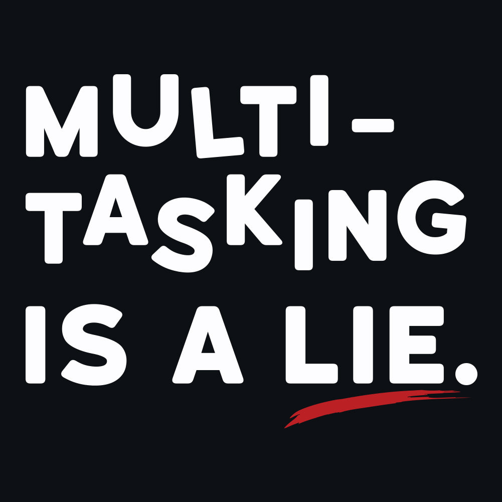 Multitasking Is a Lie. Women's Racerback Tank Top