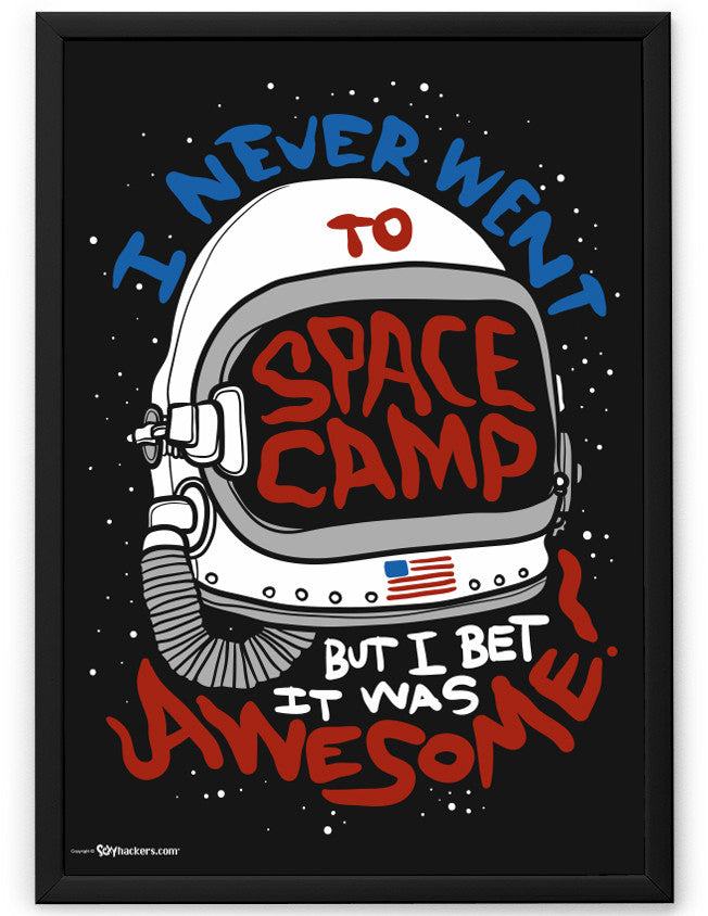 Poster - I Never Went To Space Camp, But I Bet It Was Awesome! 24x36 / Frame - 2