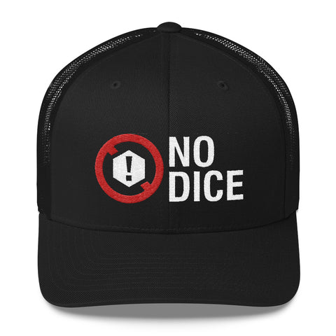 No Dice Logo Embroidered Retro Mesh-Back Trucker Hat