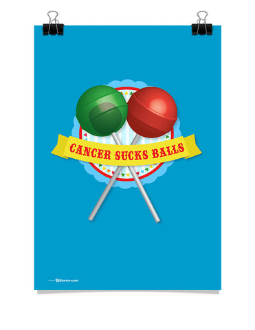 Poster - Cancer Sucks Balls 24x36 / Poster - 1