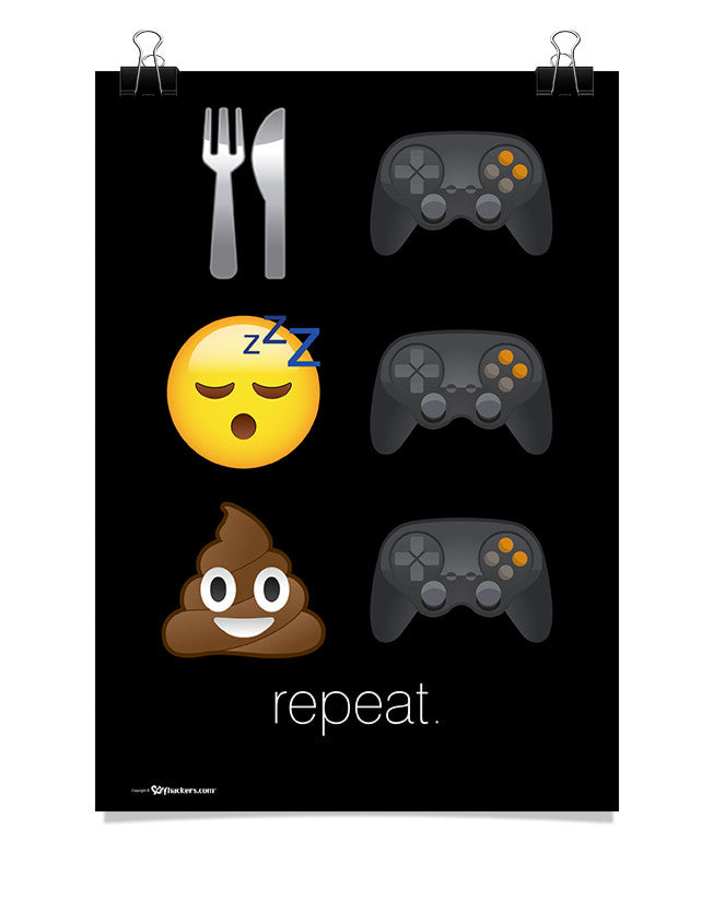 Poster - Eat Game. Sleep Game. Poop Game. Repeat.  - 1