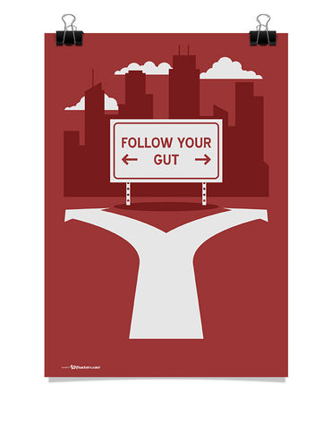 Follow Your Gut Poster