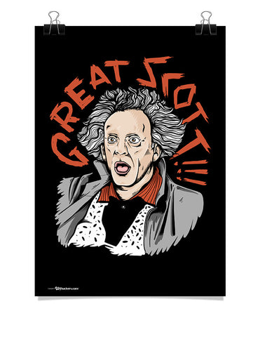 Doc Brown Great Scott Poster