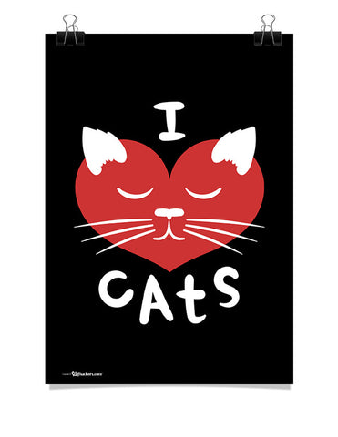 Poster - I ♥ Cats  - 1