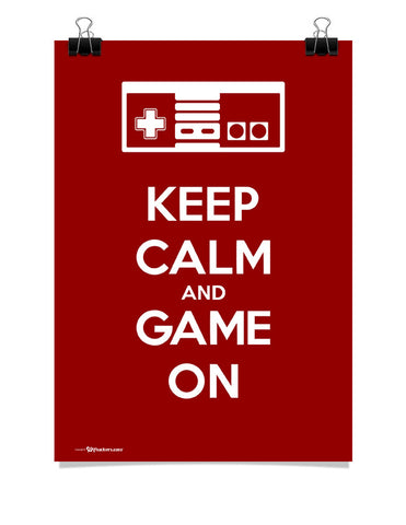 Poster - Keep Calm and Game On  - 1